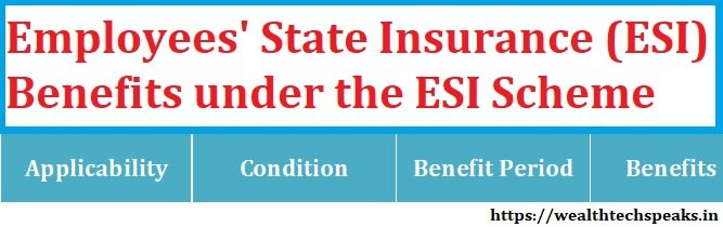 Benefits under ESI Scheme