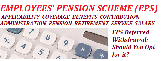 Deferred Withdrawal of Pension