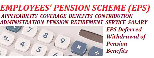 Defer Withdrawal of Pension