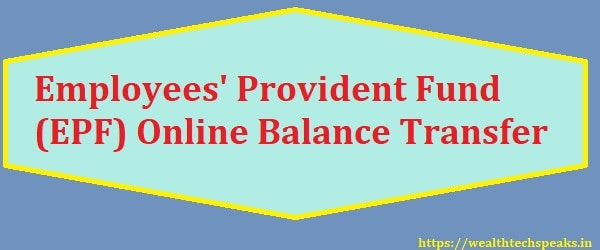 EPF Online Balance Transfer