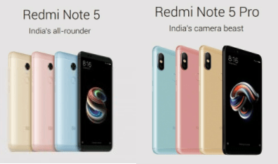 Redmi Note 5 and Redmi Note 5 Pro